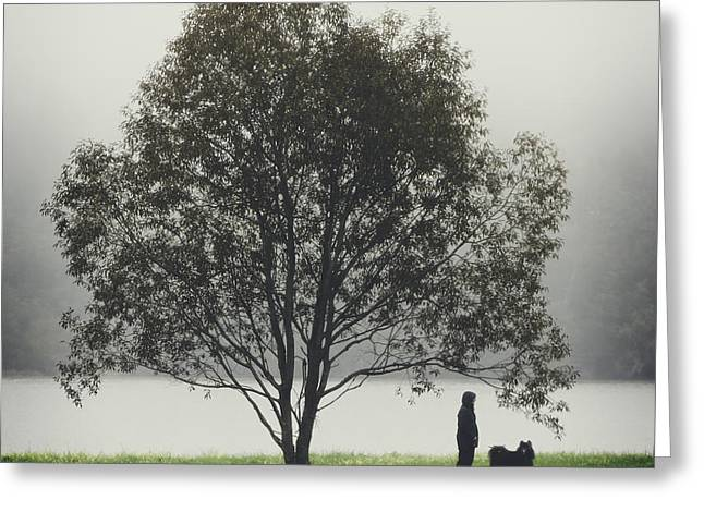 Special Moment Greeting Cards - Her Life With a Dog Greeting Card by Ari Salmela