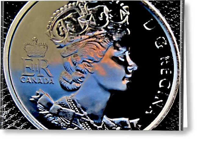 Her Majesty Elisabeth The Second  Coin Greeting Card by Danielle  Parent
