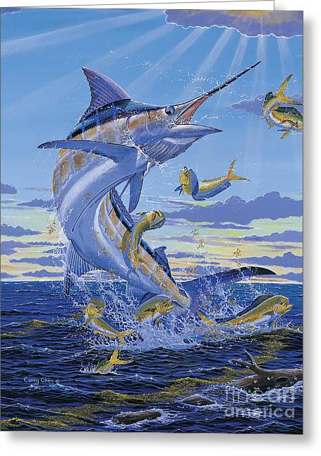 Striped Marlin Greeting Cards - Her Majesty Off0028 Greeting Card by Carey Chen
