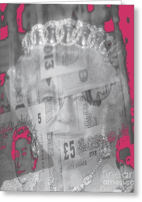 Europe Mixed Media Greeting Cards - Her Majesty Queen Elisabeth Greeting Card by PainterArtist FIN