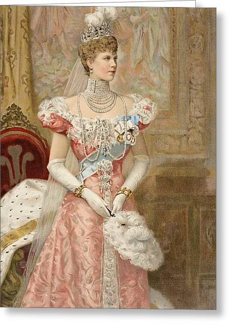Gloves Drawings Greeting Cards - Her Royal Highness The Princess Greeting Card by Samuel Begg