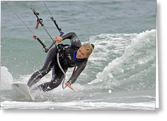 Para Surfing Greeting Cards - Her Style Greeting Card by Keith Armstrong