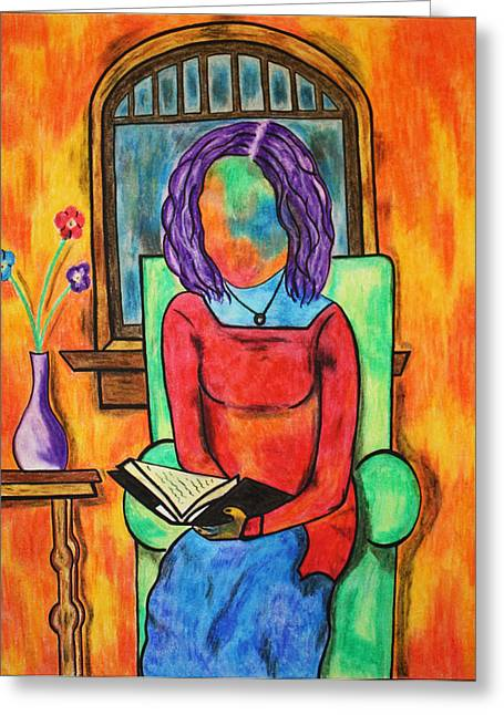 Awesome Pastels Greeting Cards - Her Written Companion Greeting Card by Morning Coffee