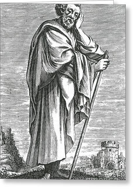 5th Century Bc; Greeting Cards - Heraclitus Of Ephesus, Greek Philosopher Greeting Card by Science Source