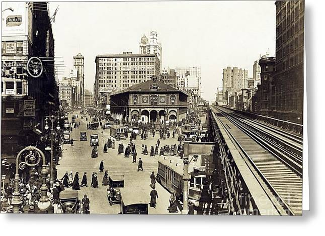 Herald Square, New York City, 1921 Greeting Card by Irma And Paul Milstein Division Of United States History, Local History And Genealogy