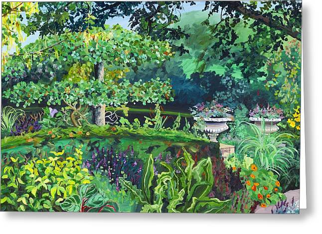 Datura Paintings Greeting Cards - Herb Garden II Greeting Card by Christina Plichta