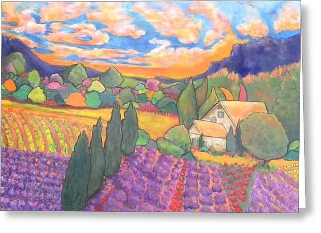 Italian Sunset Greeting Cards - Herbes de Provence  Greeting Card by Chaline Ouellet