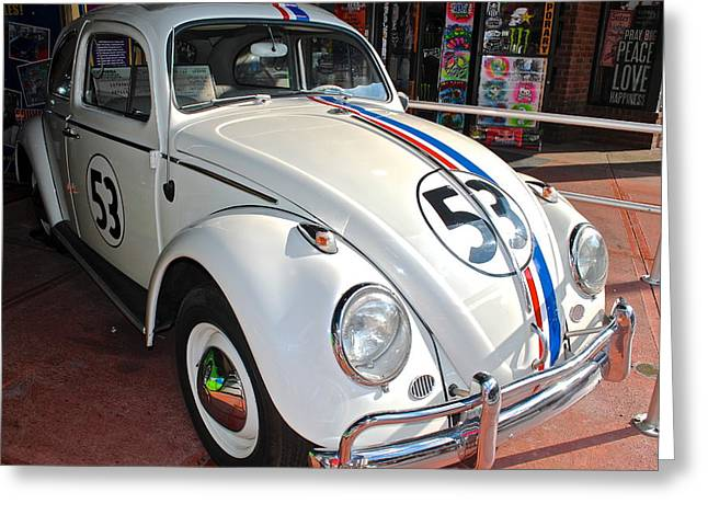 The Love Bug Greeting Cards - Herbie the Love Bug Greeting Card by Frozen in Time Fine Art Photography