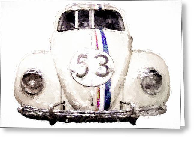 The Love Bug Greeting Cards - Herbie the Love Bug Greeting Card by Vivian Frerichs