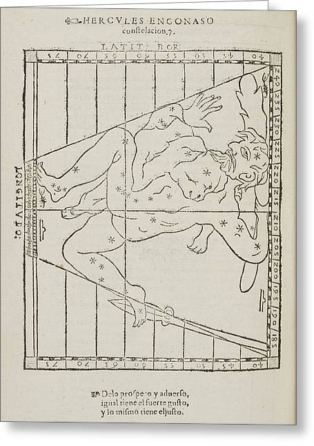 Hercules The Warrior Star Constellation Greeting Card by British Library