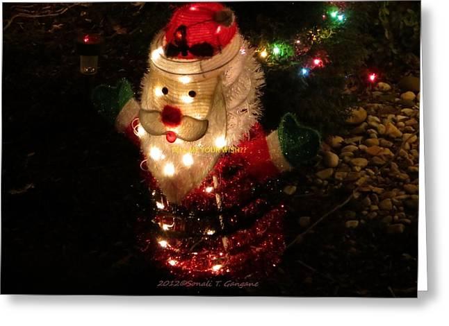 Here Comes Santa Greeting Card by Sonali Gangane