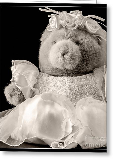 Bridal Gown Greeting Cards - Here Comes the Bride Greeting Card by Edward Fielding