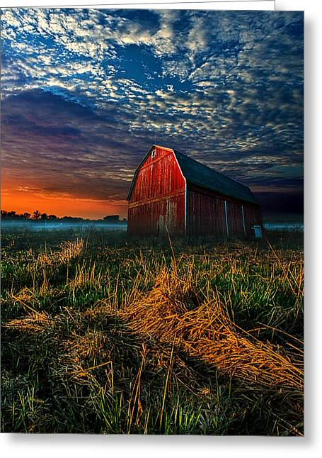Wisconsin Barn Greeting Cards - Here Comes the Light Greeting Card by Phil Koch