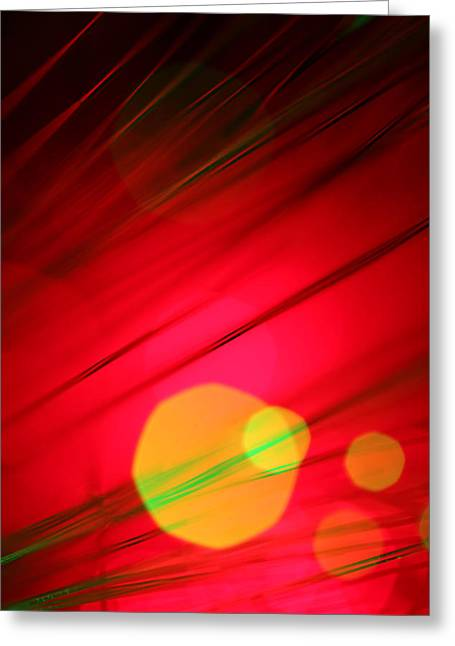 Modernism Greeting Cards - Here Comes the Sun Greeting Card by Dazzle Zazz
