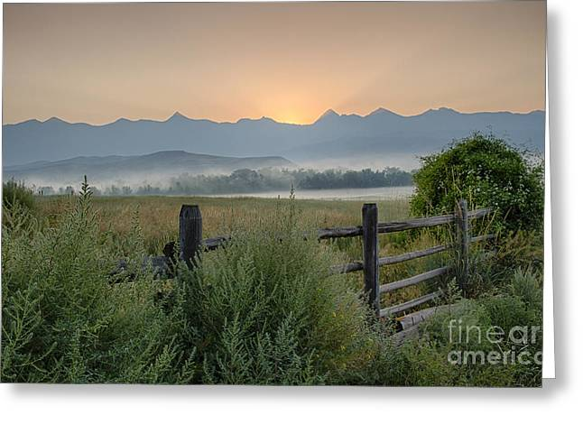 Salmon River Idaho Greeting Cards - Here Comes the Sun Greeting Card by Idaho Scenic Images Linda Lantzy
