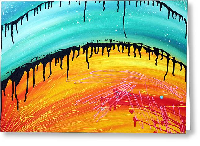 Abstractart Greeting Cards - Here Comes The Sun Greeting Card by Laura Barbosa
