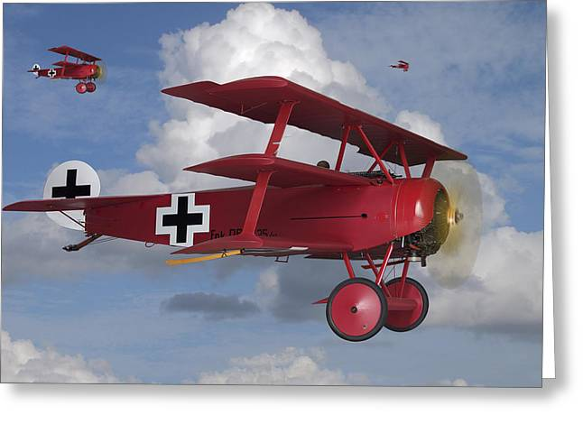 Air Plane Greeting Cards - Here Comes Trouble Greeting Card by Mike McGlothlen