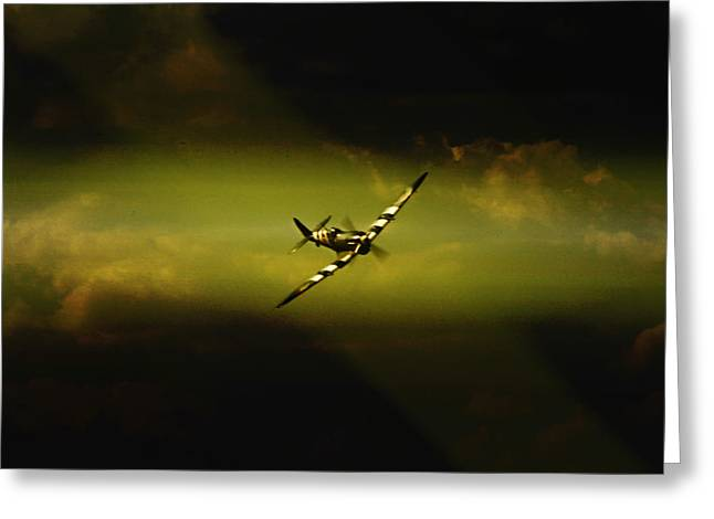 Spitfire Greeting Cards - Here He Is Greeting Card by Paul Job