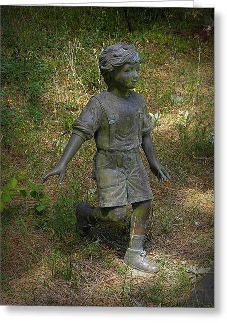 Garden Statuary Greeting Cards - Here I Come Greeting Card by Frank Wilson