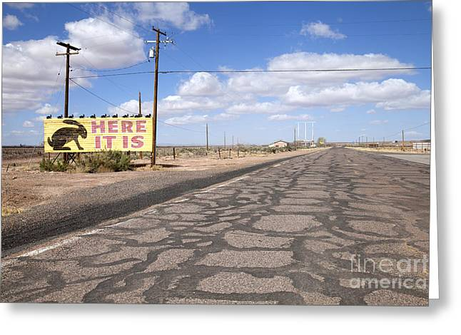 Roadway Greeting Cards - Here It Is Greeting Card by Rick Pisio