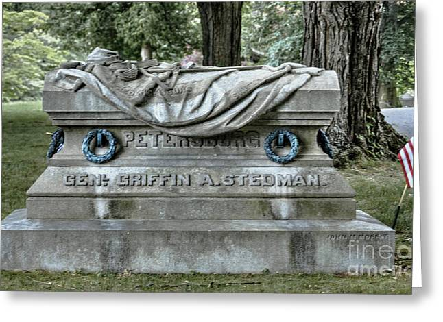 Union Connecticut Greeting Cards - Here Lies General Stedman Greeting Card by Marcel  J Goetz  Sr