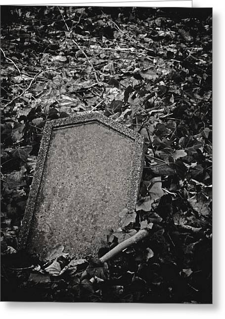 Headstones Greeting Cards - Here Lies... Greeting Card by Odd Jeppesen