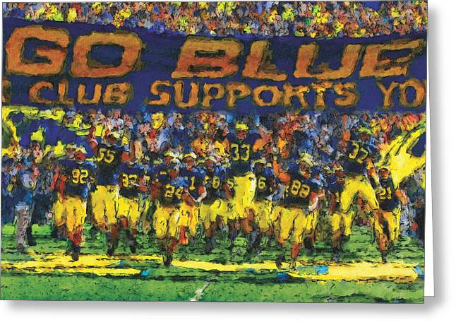 Duke Paintings Greeting Cards - Here We Come Greeting Card by John Farr