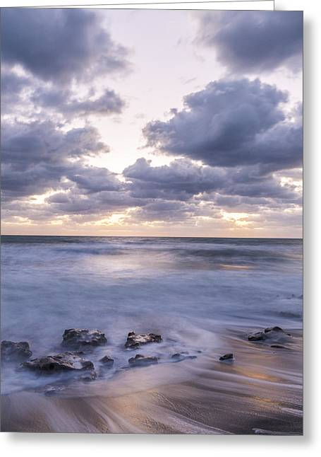 Art In Acrylic Greeting Cards - Here We Go Greeting Card by Jon Glaser