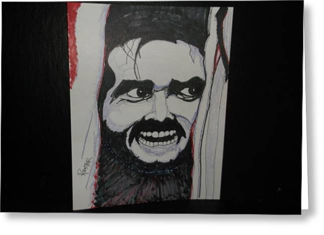 Outlook Drawings Greeting Cards - Heres Johnny Greeting Card by Rodster
