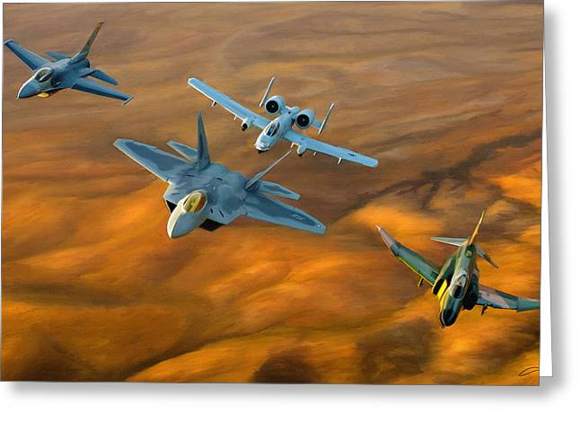 Heritage Flight II Greeting Card by Dale Jackson