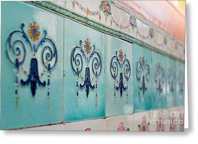 Wall Tiles Greeting Cards - Heritage Greeting Card by Ivy Ho