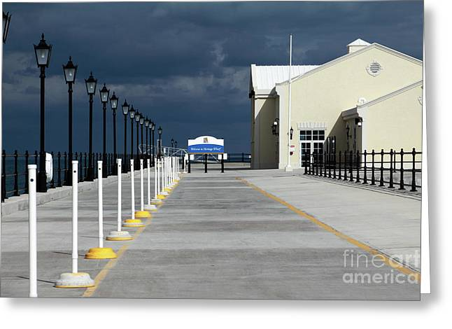 Cruise Terminal Greeting Cards - Heritage Wharf in Royal Naval Dockyard Greeting Card by Charline Xia