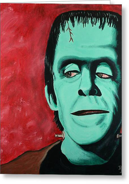 Herman Munster - The Munsters Greeting Card by Bob Baker