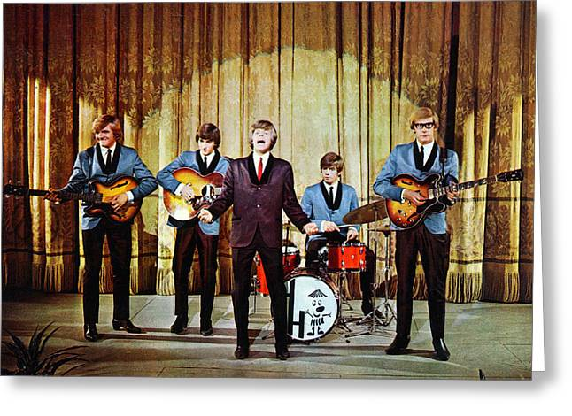 Hermit Greeting Cards - Hermans Hermits Greeting Card by Silver Screen