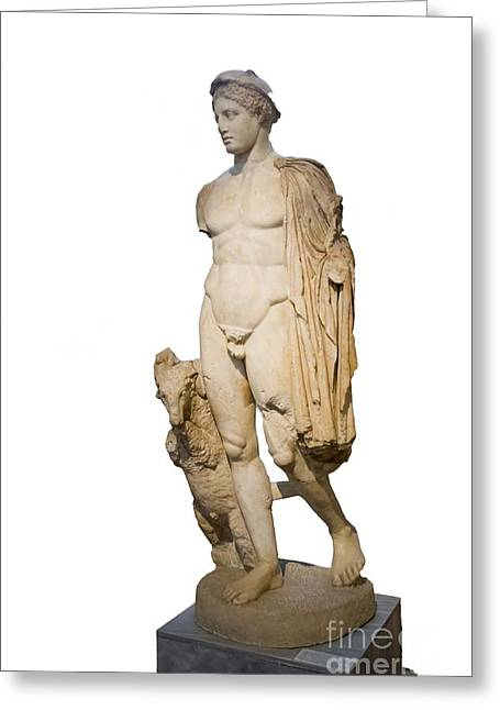 Museum Athens Greeting Cards - Hermes Statue, Athens Greeting Card by Photostock-israel