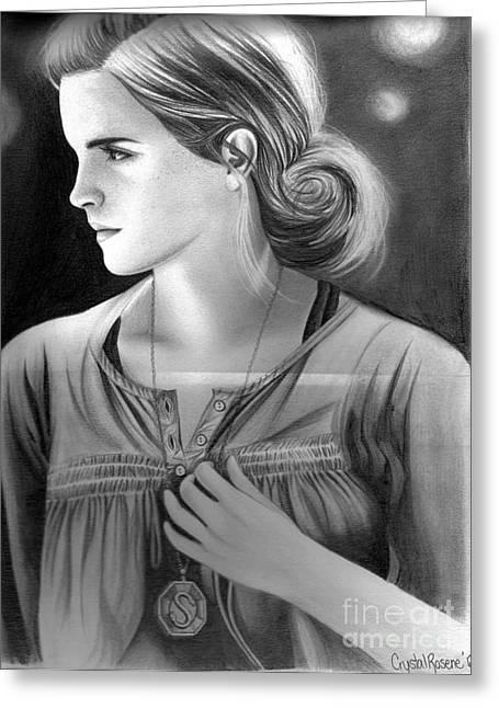 Hermione Granger Greeting Card by Crystal Rosene
