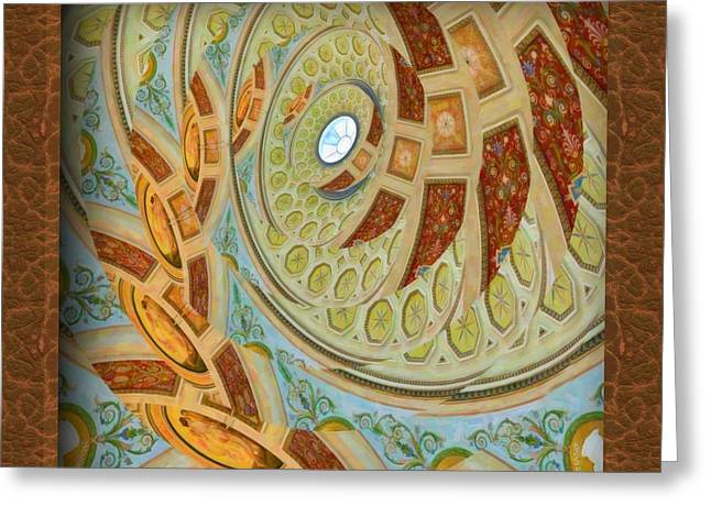 St. Raphael Greeting Cards - Hermitage Abstract Swirl  Greeting Card by Liane Wright