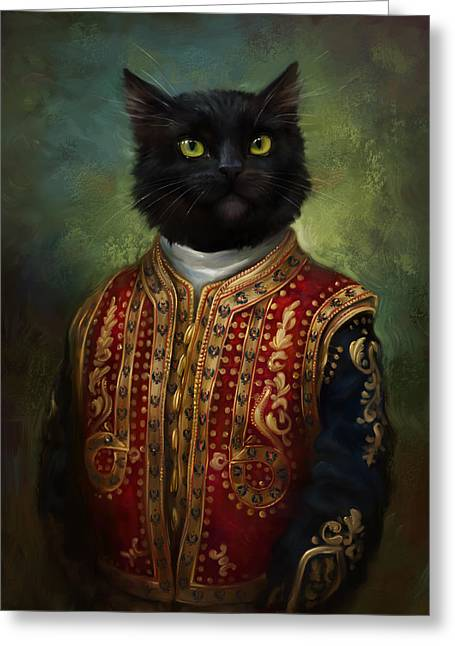 Black Russian Greeting Cards - Hermitage Court Moor in casual uniform Greeting Card by Eldar Zakirov