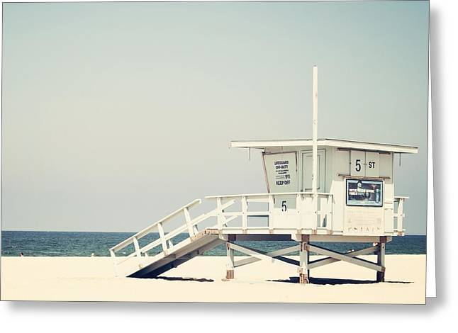 California Beach Greeting Cards - Hermosa Beach  Greeting Card by Bree Madden