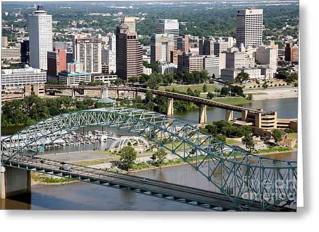 Leasing Greeting Cards - Hernando-Desoto Bridge Memphis Greeting Card by Bill Cobb