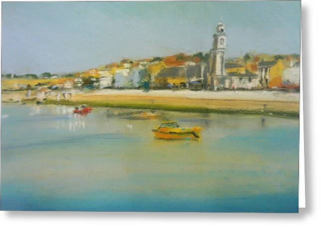 Clock Pastels Greeting Cards - Herne Bay Front Greeting Card by Paul Mitchell