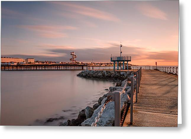 Neptune Greeting Cards - Herne Bay Sunset Greeting Card by Ian Hufton