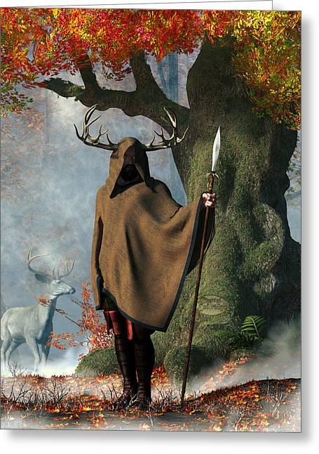 Herne The Hunter Greeting Card by Daniel Eskridge