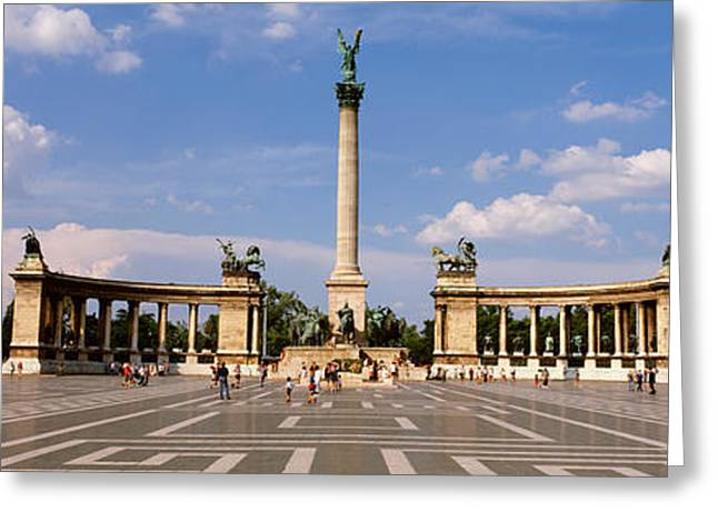 Hungary Greeting Cards - Hero Square, Budapest, Hungary Greeting Card by Panoramic Images