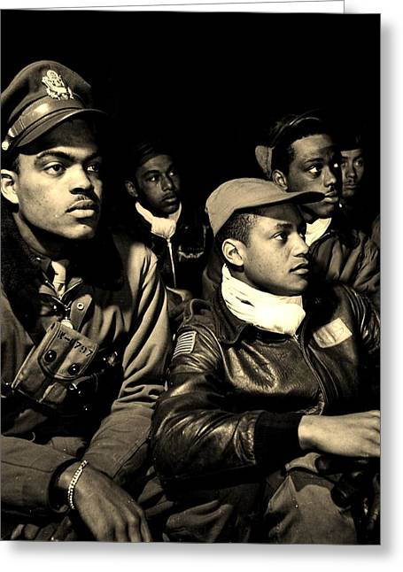 Tuskegee Airman Greeting Cards - Heroes Greeting Card by Benjamin Yeager