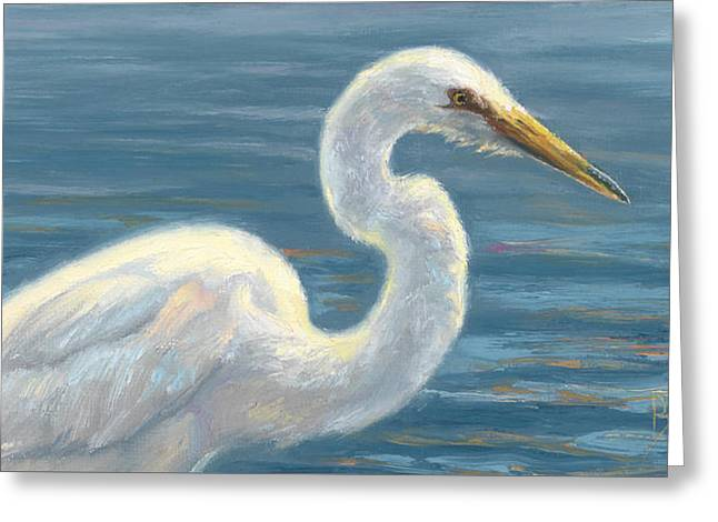 Heron Light Greeting Card by Lucie Bilodeau
