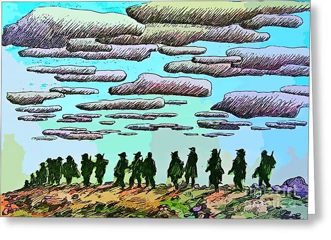 Memorial Day Drawings Greeting Cards - Heros All Greeting Card by John Malone