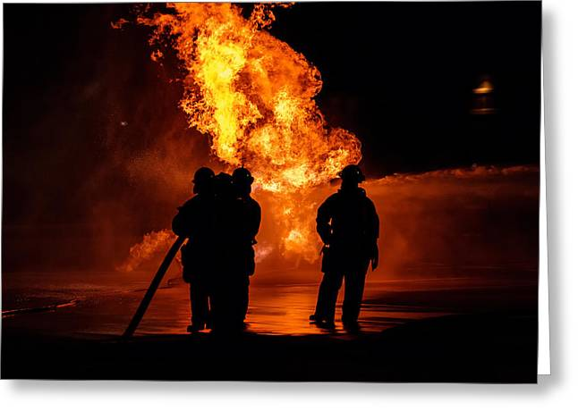 Fireman Boots Greeting Cards - Heros Greeting Card by Sennie Pierson