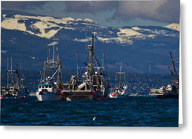 Gill Netter Greeting Cards - Herring Fishery Greeting Card by Randy Hall