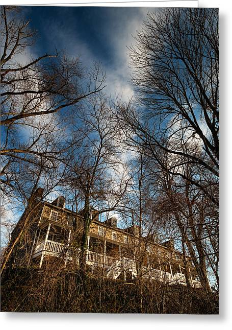 Row Homes Greeting Cards - Herring Hill - Oella Maryland Greeting Card by Geoffrey Baker